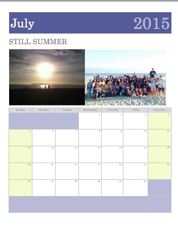 Calendar by DrennaWilsonP1