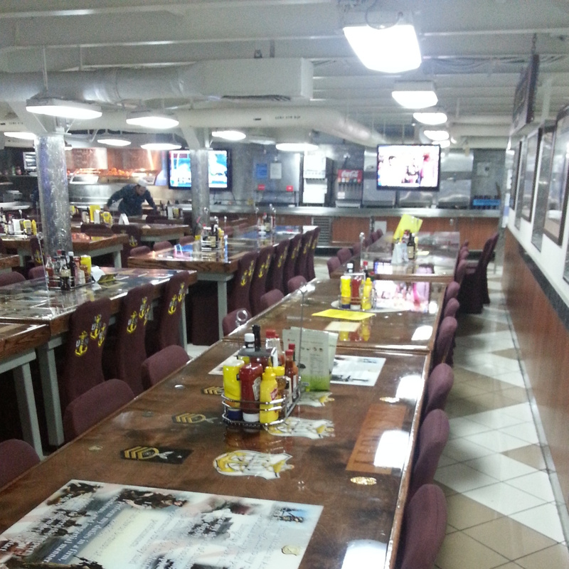 The Dinning Hall of a navy boat