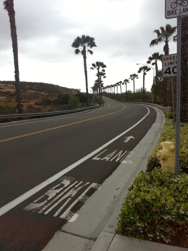 Bike lane hill