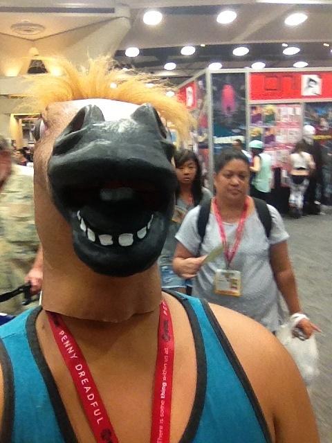 Horse mask fun