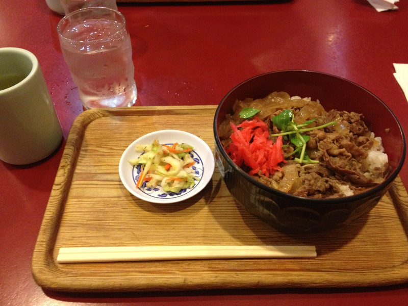Beef Bowl in Little Tokyo