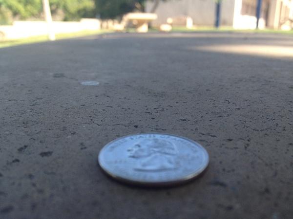 Quarter on Senior Table by RyanAvelino
