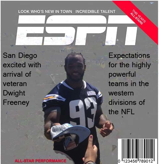 Magazine Cover Dwight Freeney