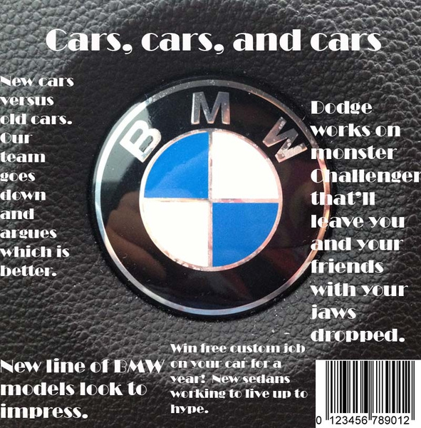 Cars, cars, and cars magazine by RyanAvelino