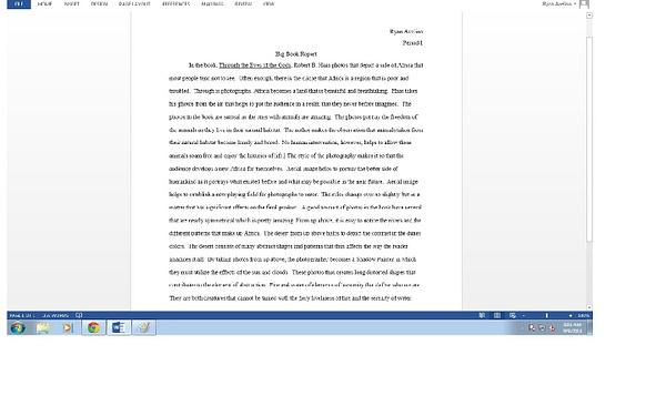 Big Book Report by RyanAvelino
