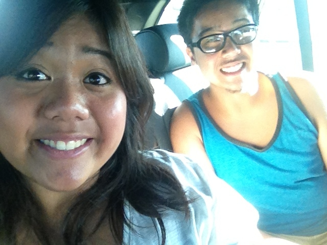 Car ride with sis