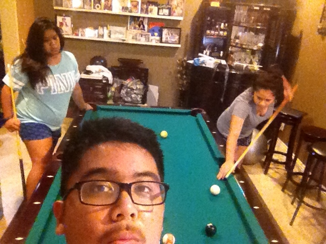Pool with sisters