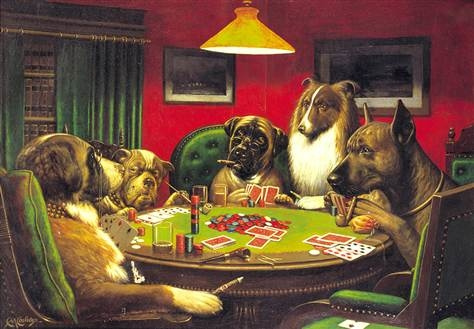 Dog Poker by RyanAvelino