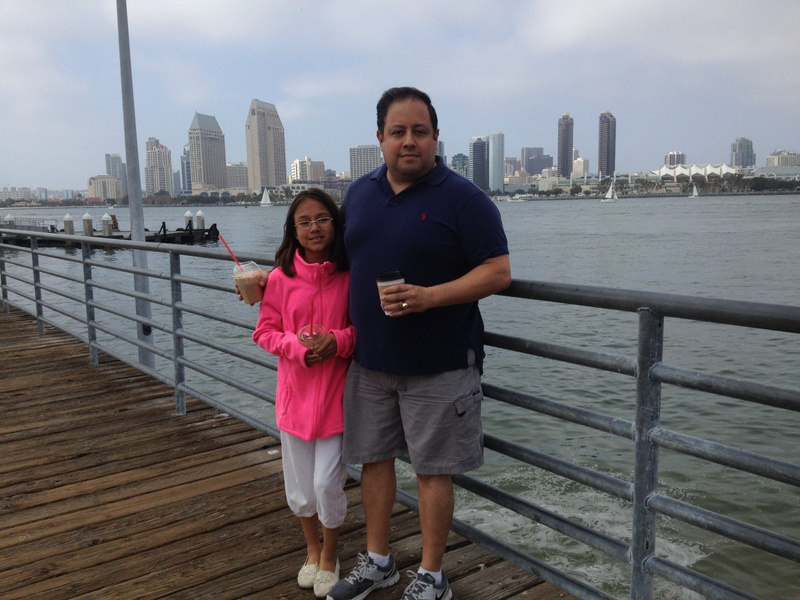 Dad and sis at the ferry crossing