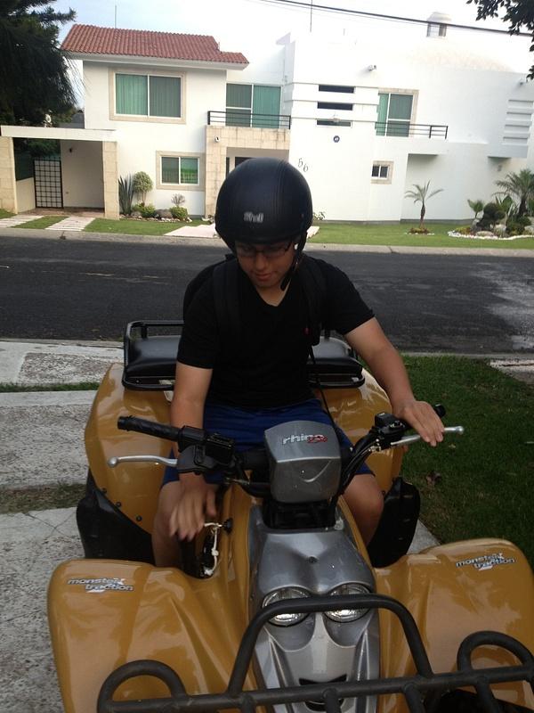 Riding quads with my bro
