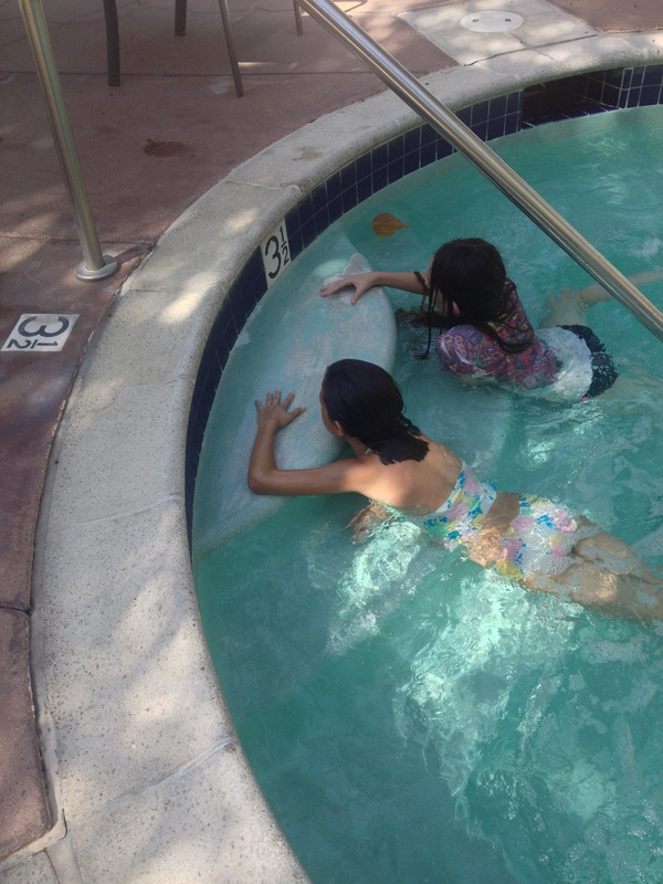 Going to the jacuzi with my Sister and her Friend