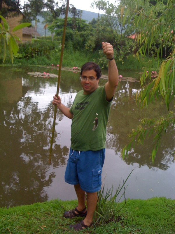 Tio out fishing