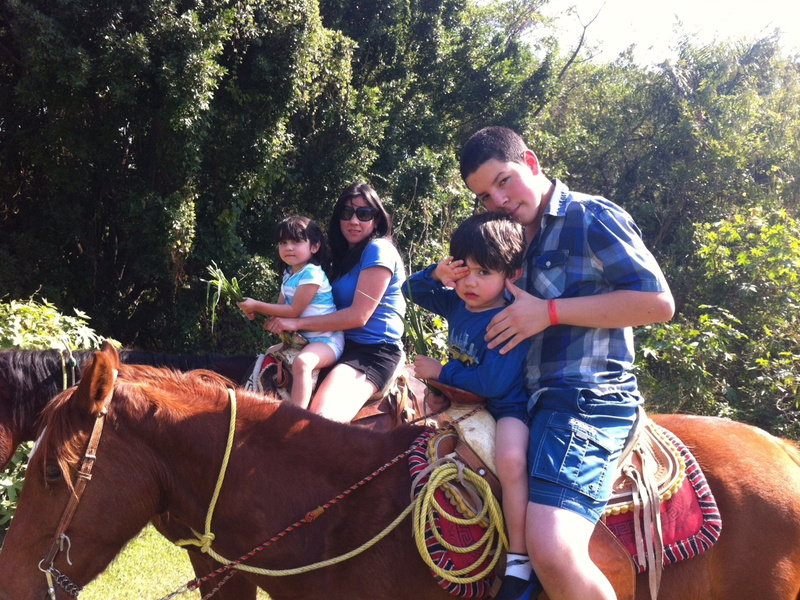 My broter, cousins, and aunt horsebackriding