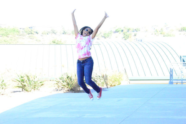 i think this is another one of my  best photos because i got her in the air and it looks professional by YarianCamillelewis