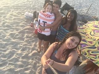 beach and friends