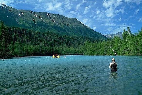 Alaska fishing Lodge by Luca1green