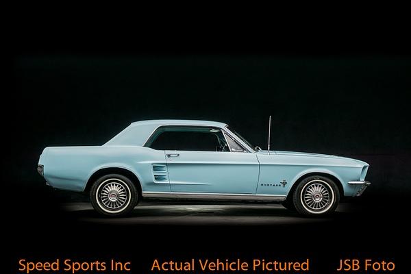 1967 Ford Mustang hardtop blue by Jsbfoto