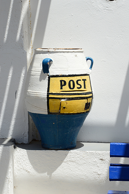 Santorini Post box