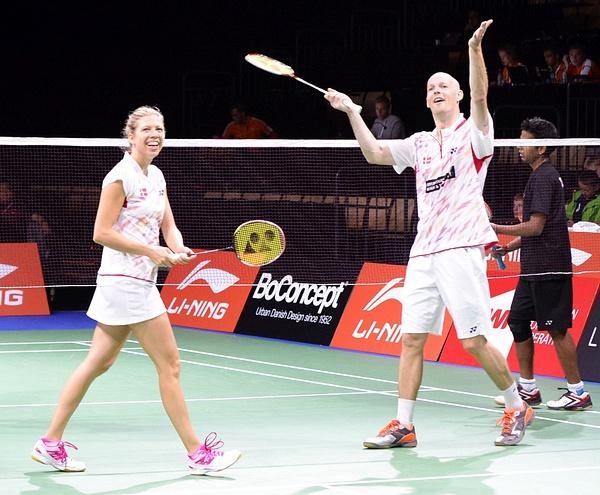 Dansk Mixed lycka by BadmintonSweden