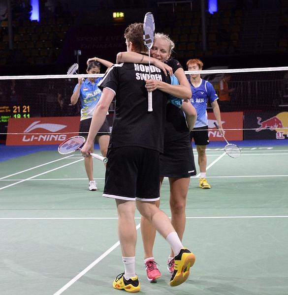Vinst i första omgången i VM by BadmintonSweden