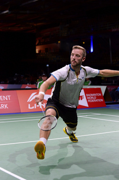 Mathias Borg, vid nät by BadmintonSweden