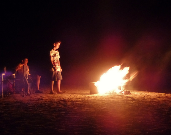 Fire at the Beach by Henner Stollberg