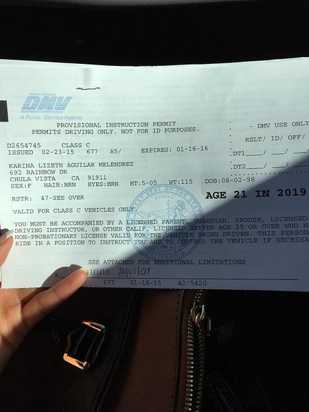 Got my permit! by KarinaAguilar