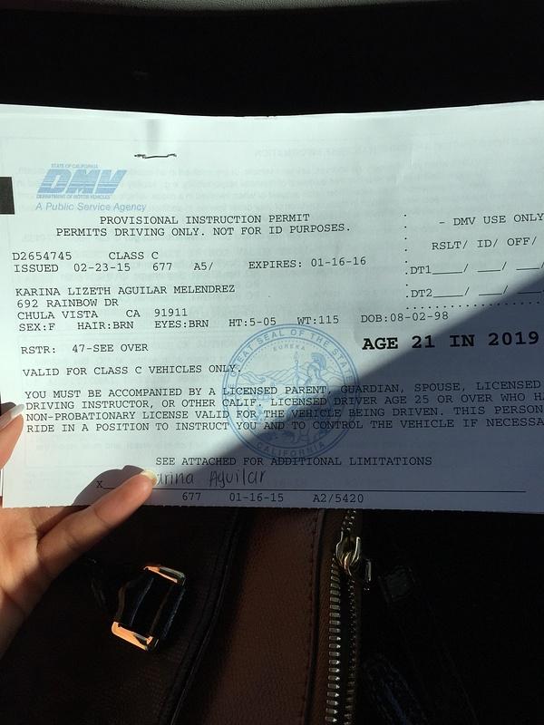 Got my permit!