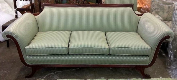 Lincoln Reupholstered sofa after by Lincoln Interiors
