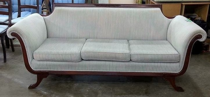 Lincoln Reupholstery before