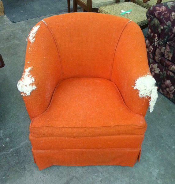 Niagara_Reupholstery_Service_Chair_Before by Lincoln Interiors