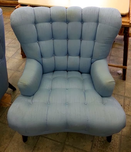 Lincoln chair reupholstered by Lincoln Interiors