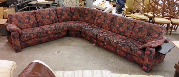 Old Sectional Lincoln Reupholstery by Lincoln Interiors