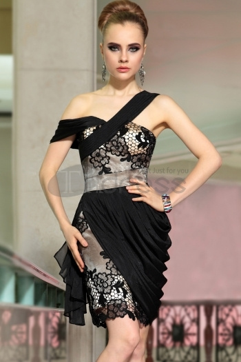 Charming Shoulder Little Black Dress, Womens Dresses Fashion 6055