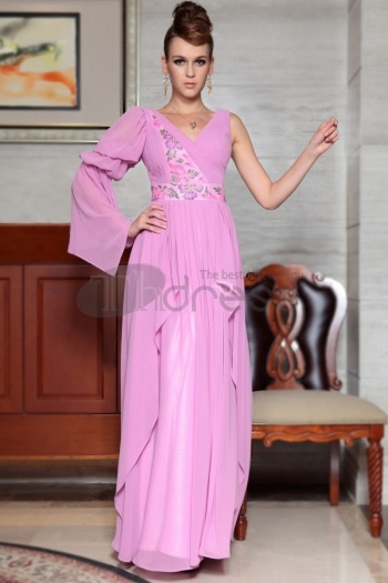 One Long Sleeve Printed Flower Special Occasions Dresses, Dance Wear