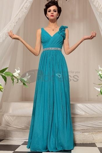 Blue Long Section Of Toast Dress Evening Dress