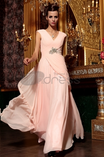 Pink Slim High-End Evening Dress Mopping The Floor Long Tail