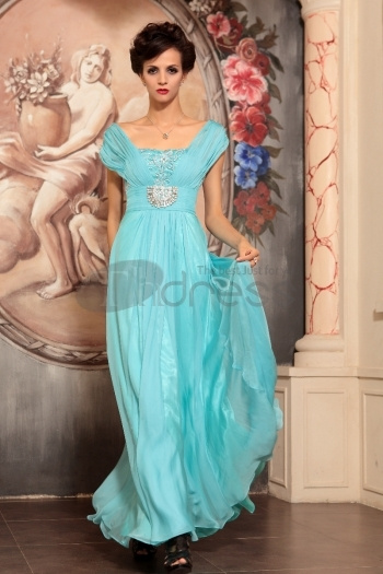 Presided Over The Long Section Of Sky Blue Red Carpet Evening Dress
