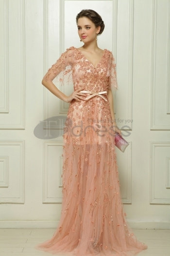 Dresses-in-Stock-Malay-satin-hand-beaded-meat-fell-to-the-ground-pink-evening-dress-bmz_cache-a-a4f1040037b980b976b7e8e2ea9c781b by RobeMode