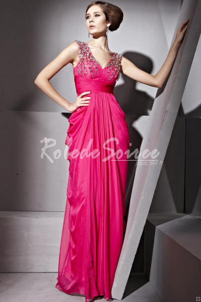 Robe-de-Soirée-Sexy-Elegant-A-ligne-col-en-V-perles-robe-drapée-soir-parole-longueur-bmz_cache-c-c51f778b85ab25d06e81d08b1b6cef7 by RobeMode