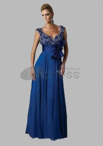 Long-Evening-Dresses-Fantastic-A-Line-V-neck-Floor-Length-Chiffon-Charmeuse-Long-Evening-Dresses-bmz_cache-4-4820361b211035d38bc by RobeMode