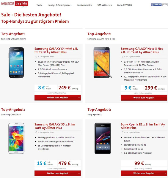AY YILDIZ Handy Top Angebote by MuratIriliaz
