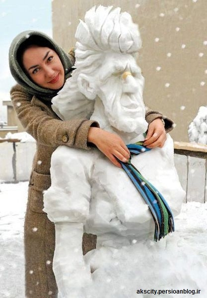 Photos Hanieh Tavassoli created a beautiful snowman!