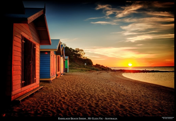 Ranelagh Beach Sheds Mt Eliza Vic