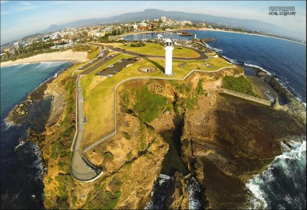 Wollongong lighthouse by Air Noel