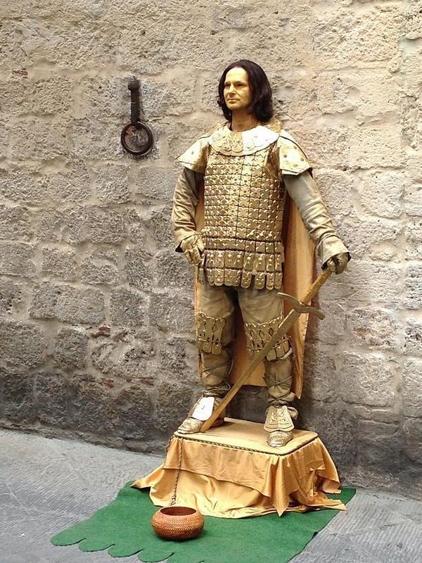 A living statue