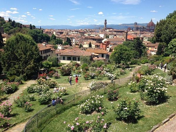 Gardens below Piazzale Michelangelo by BradAndDebbie