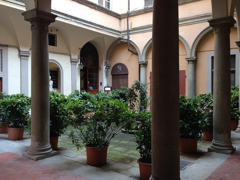 An interesting hotel courtyard