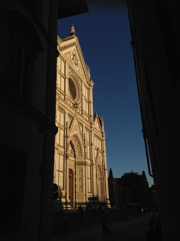 Front of Santa Croce from allleyway