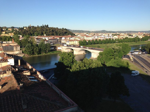View of the Arno from our room by BradAndDebbie